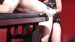 Mistress fucks slave with strapon 7