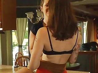 In kitchen lesbian sex Moms having sex on kitchen...usb