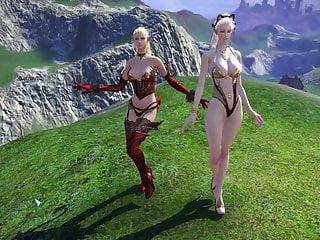 Nude elven girls - Huge breasted elven whores want cum