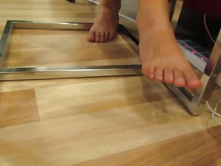 Foot jobs under the table videos - Girls feet - spying under the table 01