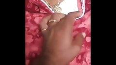 Smooching over Tamil Aunts Nighty