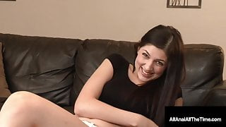 18 Year Old Miranda Miller Gets Nailed In Her Tiny Butthole!