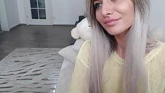 Attractive blonde having fun