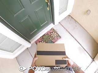 Delivery man porn - Povd delivery man fucks and facials blonde jade amber