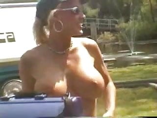 Biker nude rally Fun at a nudist rally 9