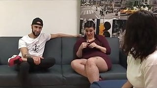Chubby Maria and her big dicked friend Fede teach Alba