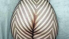 PAWG Jiggle Bum Pantyhose 2