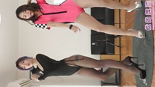 Dance in pantyhose and heels 15
