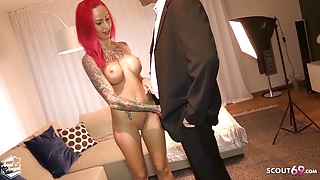 Redhead German Hooker Bareback Fuck by Rich older Client