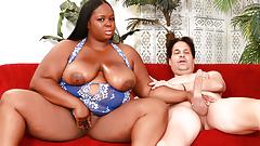 Ebony BBW Olivia Leigh Has Her Juicy Natural Boobs Sprayed