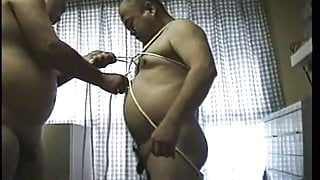 Japanese mature with some bondage and sounding