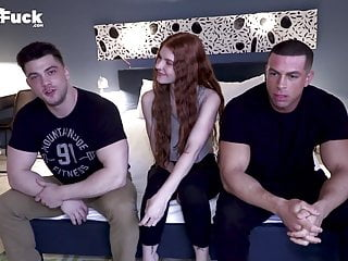 Redhead big tits sexy Wow boyfriend of sexy ass redhead watches 2 bi guys explor