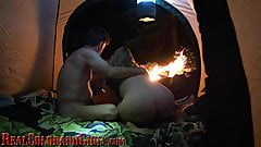 Light Her Ass Up Anal Play Campfire Sex - Gracelynn Moans