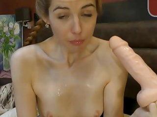 Gay dildo ass Webcam slut deep throats 12 inch dildo ass to mouth squirts3