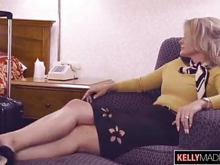 Crazy male orgasm Stewardess calls for male escort gold mesh wristwatch