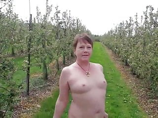 Woman nude outdoors Mature slut walking nude outdoors mix 2