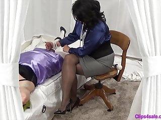 Clips4sale lesbian bbw Femdom mistress handjob for sissy crossdresser