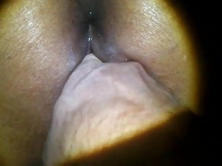 Between forefinger and thumb - Pussy fuck my wife with thumb in hur ass than anal fuck