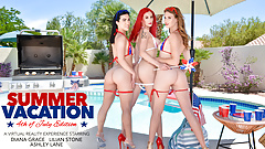 Naughty America, July 4th FOURSOME fuck fest