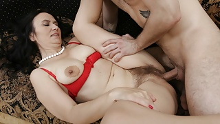 MATURE4K. Mature shows naked body to stepson who sneaks into