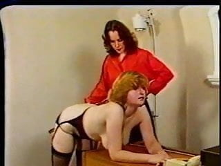Spanked office cleaner Spanking in the office