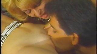 Mature lady sucks on a big white cock like a pro then fucks