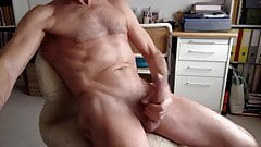 Daddy cumming and eating his load