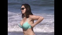 candid big tit beach milf slow motion