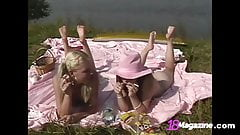 Young Teens Piper Fawn & Lucie Play, Smoke & Get All Naked!