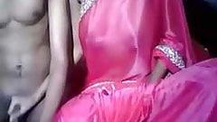 Silk Saree Handjob