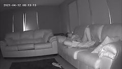 Sister in Law Caught Masturbating on My Couch Hidden Cam