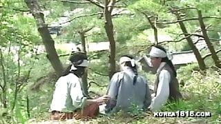 Ugly Korean man fucks hot korean woman