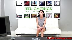 Tiedup teen beauty banged at a casting
