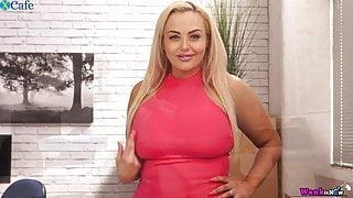 Eye-catching bosomy sexpot Jem Stone thirsts to masturbate a
