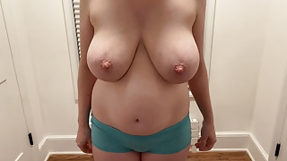Wife undresses and gives blowjob