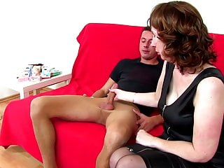 Grannies hairy cunt Not mothers hairy cunt fucked by boy in stockings