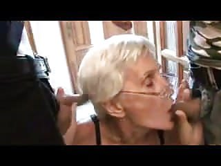 Ols young lesbians Two cocks for ol gran