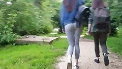 Girl in tight yoga pants
