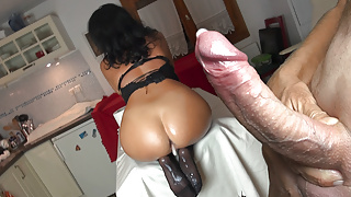 The fuck challenge with a pre-fucked ass!  Alexandra Wett