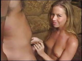 Woman give hand job - Tabitha stern gives a good hand job, talks dirty and takes lots of cum
