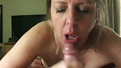 Girlfriend can't wait for me to bust my load in her mouth