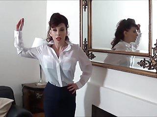 Sissy shemale maid Madame c cock slaps pink sissy angeliica