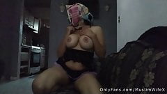 Arab Muslim Wife Masturbates While Husband Is In The Other Room