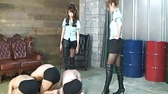 Japanese mistress whipping and foot worship