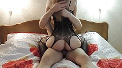 fucked a stunned beauty and came on her ass