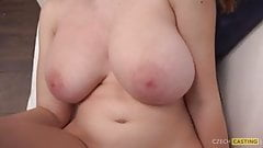 Czech Teen with Huge Natural Breasts Fucking
