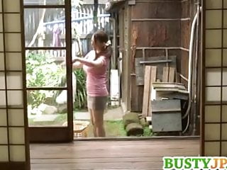 Busty hentai girl banged in 3some Mako busty is doggy fucked in 3some
