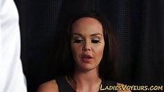 Cfnm fetish brunette rubbing