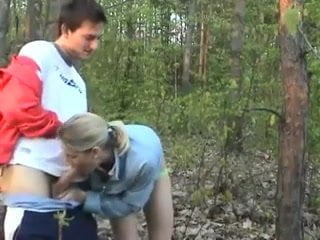Sunny day for outdoor sex