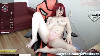 Hot girl with pink thong FUCK her wet pussy